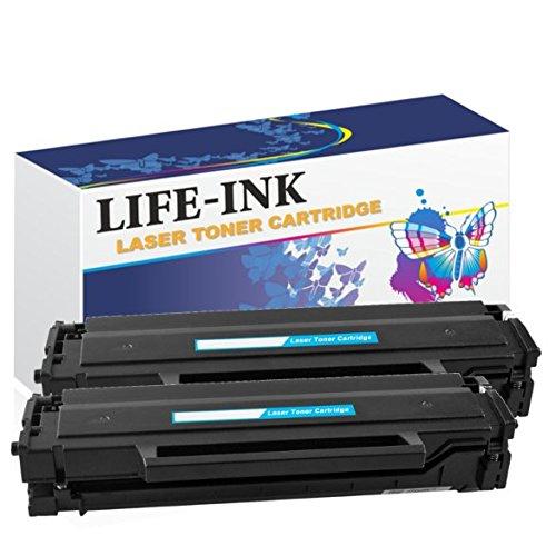 Life-Ink XXL Toner 2er Set ersetzt Samsung MLT-D111S, D111S, 111S, MLTD111S (100{16413a2e4b5a0c606b17fff1809f7dc5969fba4e386b3d26f7fa32bf84108fa5} mehr Inhalt!) für Samsung Xpress M2020, M2020W, M2021, M2022, M2022W, M2026, M2026W, M2070, M2070F, M2070W, M2070FW, M2071, M2071FH, M2071FW, M2071HW, M2078, M2078F, M2078FW, SL-M2022, SL-M 2022W Drucker schwarz