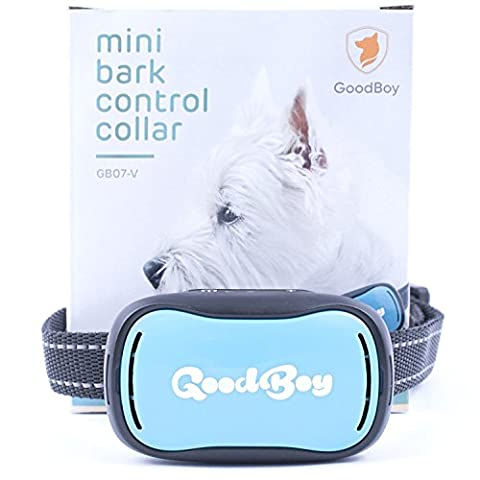 Small Dog Bark Collar by GoodBoy Rechargeable And Waterproof Vibrating Bark Deterrent for Small And Medium Dogs Is Smallest & Most Safe On Amazon - No Spiky Prongs! (2,5+kg)