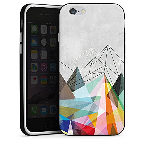 Apple iPhone X Silikon Hülle Case Schutzhülle Dreiecke Muster Design Silikon Case schwarz / weiß