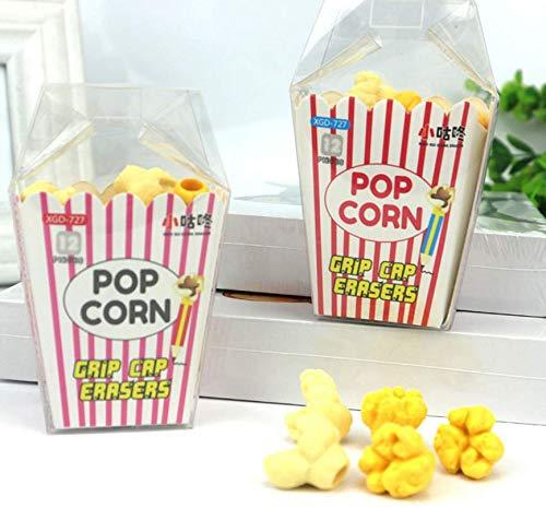IU Desert Rose Hausbedarf 1 Set Schüler Popcorn-geformte Radiergummis Cartoon Lustige Popcorn-Radiergummis Desert Rose Set