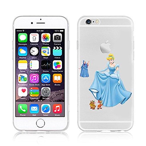 RONNEY'S Disney CINDERELLA Transparent TPU Soft case for Apple Iphone 7 CINDERELLA3