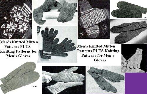 Los hombres de punto manopla patrones más patrones que hacen punto para los guantes de los hombres por Unknown
