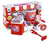 #6: Wishkey Battery Operated Home Appliances Pretend Play Household Set of 2 Role Play Set with Washing Machine and Vacuum Cleaner with Light & Sound for Kids to Play at Home