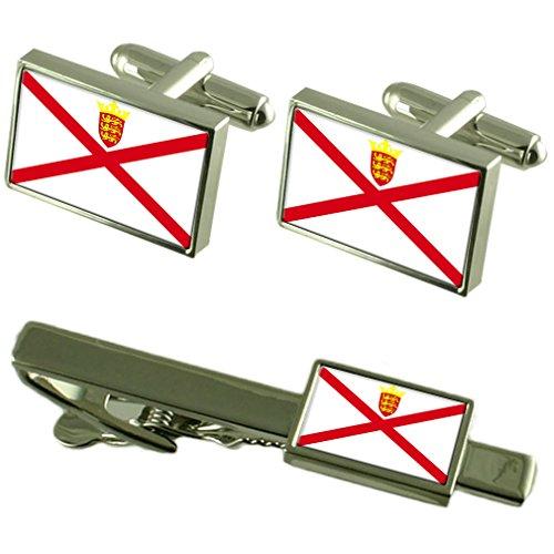 Jersey Flagge Manschettenknöpfe Krawatten passende Box Set -