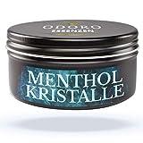 Mentholkristalle aus 100% reinem Menthol. 50g Sauna-Kristalle, wiederverschließbare Design Alu-Dose. Große Premium Eiskristalle m. kühlender Wirkung für Sauna-Aufgüsse