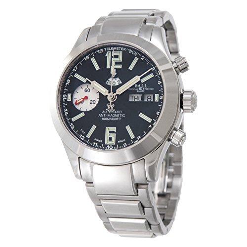 Boule [montre] Ball Watch Montre ingénieurs Master II Telemeter Cadran noir acier inoxydable 100m résistant à l'eau pour homme Cm1020C-sj-bk Parallel Import Goods