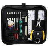 ammoon Kit d'outils pour Réparation, Entretien et Nettoyage de Guitare Ukulélé Basse Mandoline, Accessoire de Guitare