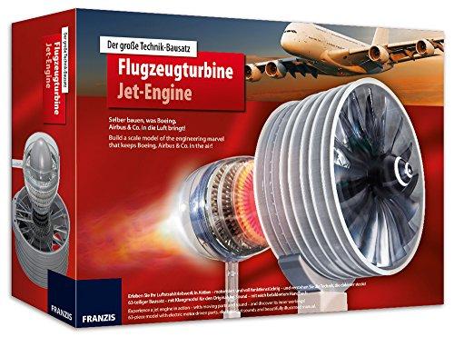 FRANZIS Der große Technik-Bausatz Flugzeugturbine: Selber Bauen, was Boing, Airbus & Co in die Luft bringt! 63-Teiliger Bausatz mit Klangmodul und bebildertem Handbuch | Ab 14 Jahren