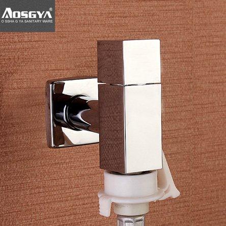 Preisvergleich Produktbild Qwer Square Persönlichkeit Cu alle Waschmaschine Armaturen Single kaltes Wasser 3 Tipp Eckventil Armaturen, orange Kreis tippen)