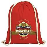 ShirtStreet American Football Kostüm für NFL Superbowl Fans, Größe: onesize,rot natur
