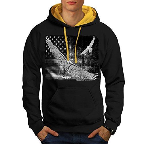 american-eagle-flag-us-falcon-men-new-black-gold-hood-l-contrast-hoodie-wellcoda