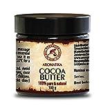 Cocoa Butter - Kakao Butter Unraffiniert - Native Rein Und Natürlich 100g Glas - Südafrika - Kakaobutter Für Lippenpflege - Stretch Marks - Haare - Körperbutter Von Aromatika