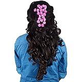 Majik Hair Accessories Flowers (SET OF 24 FLOWERS) (Dark Pink)
