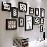 DBSCD Combinaison de Photo de Salon en Bois Massif avec Photo en Bois Massif (Photo: Noir)