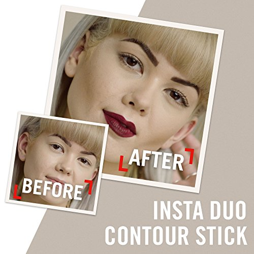 Rimmel London Insta Duo Contouring Stick, Correttore Stick 2-in-1 per Illuminare e Scolpire il Viso, 100 Light, 26.5 g
