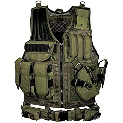 HoneybeeLY Gilet Tactique Simulé Militaire extérieure, Armée Gilet Tactique Cosplay de Counter Strike Jeu, Cs Airsoft Swat Équipement De Combat À Pistolet À Jouets Vivants