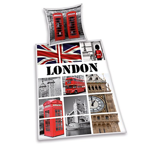 Herding 445955077cama London, almohada 70x 90cm con funda nórdica de 140x 200cm,...