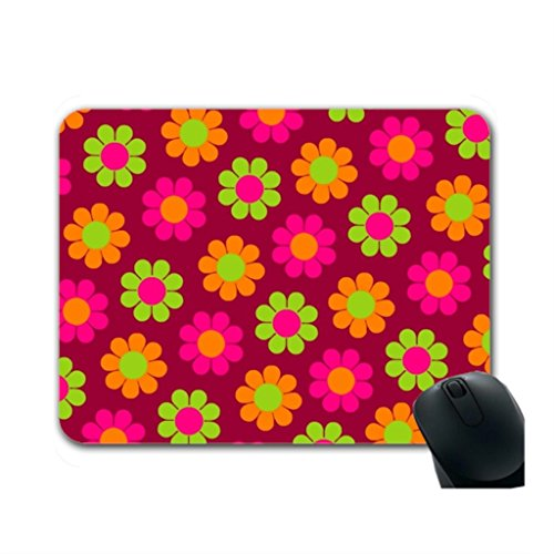 Helen Chen Flower Hard Mauspad Pop Cute Maus Pad Mitte Größe (Handgelenk-rest-maus-pad, Orange)