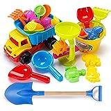 MKJYDM Juguetes de Playa, carros y Herramientas de Juguete Reutilizables (31 Juegos de Playa + Pala de 56 cm) Juguetes Inteligentes para niños