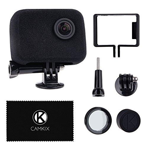 CamKix Windschutz und Rahmenhalterung kompatibel mit GoPro HERO4, HERO3+ und HERO3 - Reduziert Windgeräusche für optimale Audioaufnahmen - UV-Filter Objektivschutz, Objektivkappe und Reinigungstuch
