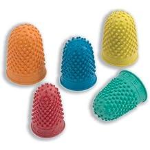 Quality Rubber 265486 - Dedal de goma (tamaño mediano, 10 unidades), color azul