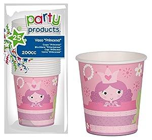 Party- Pack 25 vasos cartón, Princesas (68235)
