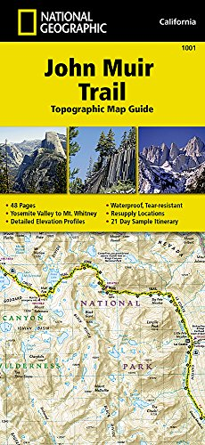 John Muir Trail Topographic Map Guide (National Geographic Trails Illustrated Map, Band 1001) -
