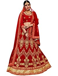 Women'S Red Color Embroidered Lehenga ASBLA187