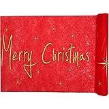 Tischläufer rot Merry Christmas Vlies 5m x 30cm Rolle Weihnachten Tischband Tischvlies Dekostoff Palandi®