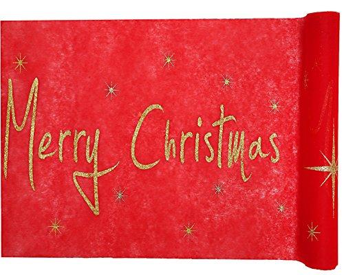 5 Meter Nr.5 Tischläufer-Deco-Band Weihnachten Sterne Merry Christmas vom Sachsen Versand