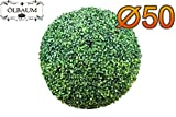 Buchsbaum, große Buchsbaumkugel Ø 50 cm 500 mm grün dunkelgrün , ohne Echtholzstamm (Zubehör Mailanfrage), und Deko Efeuranke + Moos auf Wunsch mit Solarbeleuchtung SOLAR LICHT BELEUCHTUNG (Zubehör) , ohne Terracotta Topf Plastik und stabilem Fuß (Zement) Kunstpflanzen stabile Dekobäumchen künstliche Bäume Bäumchen Kugel Buxbaumkugel + Solarlicht LED Lampe 2 Lampen Lichterbaum Kunstblume Außen- und Innendekoration Balkonsichtschutz Balkon Pflanzen Sichtschutz