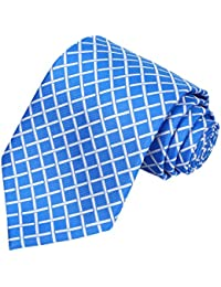 """kissties Hombre Corbata Cuadros Plaid Tie extra largo con caja de regalo Wrap (63""""XL)"""