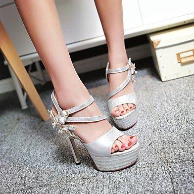 LvYuan Damen-Sandalen-Kleid Lässig Party & Festivität-Lackleder-Stöckelabsatz-Andere-Schwarz Rosa Rot Weiß Silber Silver