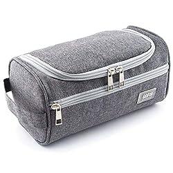 GO!elements® Smart Kulturbeutel Uni Kulturtasche zum Aufhängen Herren & Damen | Kosmetiktasche Männer Frauen für Koffer & Handgepäck | Waschtasche Reise-Tasche (Grau)