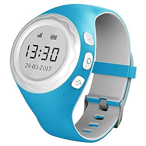 Pingonaut Kidswatch - Kinder GPS Telefon-Uhr, SOS Smartwatch mit Ortung, Tracker & Phone - Tracking App, Deutsche Software, (Gps Tracker Für Kinder)