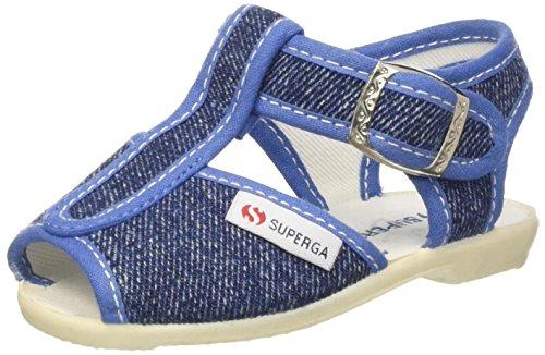 SUPERGA 1200-COTJ, Sandali con Cinturino a T Unisex-Bambini, Blu (Jeans C50), 19 EU