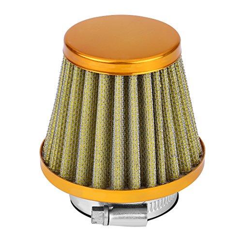 Universale 38 mm Filtro aria Tapered Rotondo, Auto Kit di induzione della presa d'aria fredda per fuoristrada ATV Quad Dirt Pit Bike(giallo)