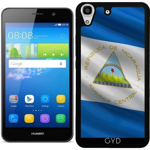 custodia-in-silicone-per-huawei-y6-y6-dual-bandiera-del-nicaragua-by-carsten-reisinger