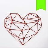 KLEINLAUT 3D-Origamis aus Holz - Wähle Ein Motiv & Farbe - Herz - 100 x 85,4 cm (XXL) - Neon Grün