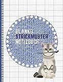 Blanko Strickmuster Notizbuch: Strickpapier Buch, Strick Journal, Verhältnis 2:3