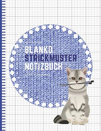 Blanko Strickmuster Notizbuch: Strickpapier Buch, Strick Journal, Verhältnis 2:3 -