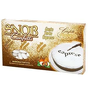 Confetti Snob caprese mandorla tostata ricoperta di cioccolato al latte Gr 500