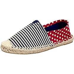 Dooxii Unisex Hombre Mujer Amantes Ocasionales Loafer Zapatos Moda Planos Alpargatas 39(24.5cm)