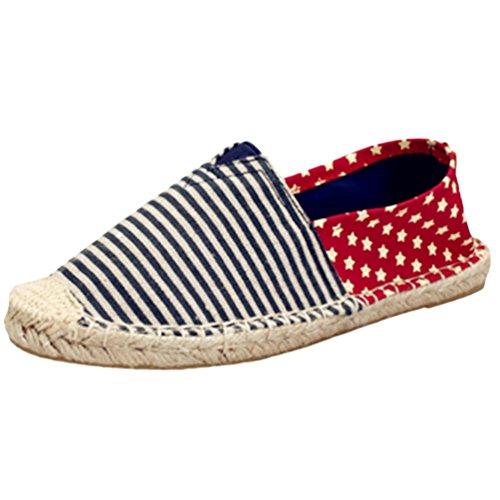 Dooxii Unisex Hombre Mujer Amantes Ocasionales Loafer Zapatos Moda Planos Alpargatas 43(26.5cm)