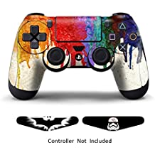 Skins for PS4 Games Playstation 4 Stickers Custom Controllers Decals Dualshock 4 Controller Skins Protective PS4 Accessories Vinyl Stickers for PS4 Wireless Remote Controller Paints + 2 Light Bar