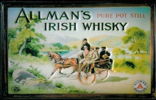 Blechschild Nostalgieschild Allman's Irish Whisky Nostalgieschild Schild Irland
