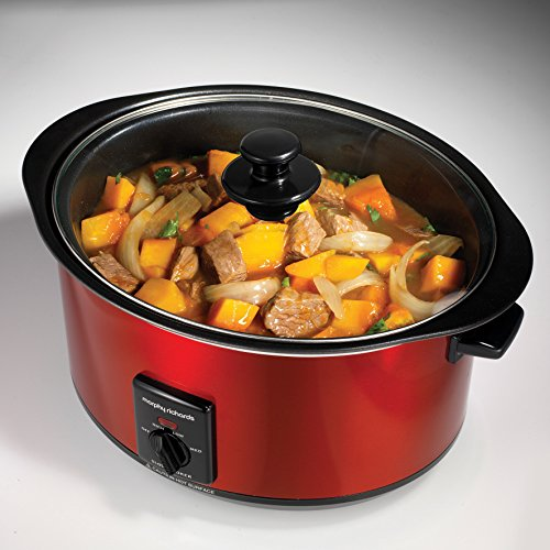 51akbERgcIL. SS500  - Morphy Richards Accents 461000 6.5 Litres Slow Cooker - Red