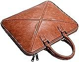 Avancé Hommes Crossbody Bags Briefcase13.3inch14 Pouce Ordinateur Portable Sac En Cuir Sac De Travail Sac Messenger Mettre,Brown-13Inch