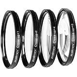 Walimex - Juego de lentes para primeros planos especial para macrofotografía (62 mm, +1/+2/+4/+10 dioptrías)
