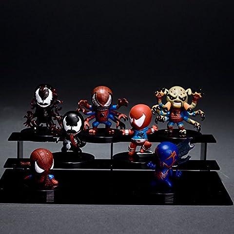MARVEL hombre Granville 7 de extraordinaria Ultimate Spider -Man Veneno Q adornos de muñecas edición muñeca muñeca mano para hacer el